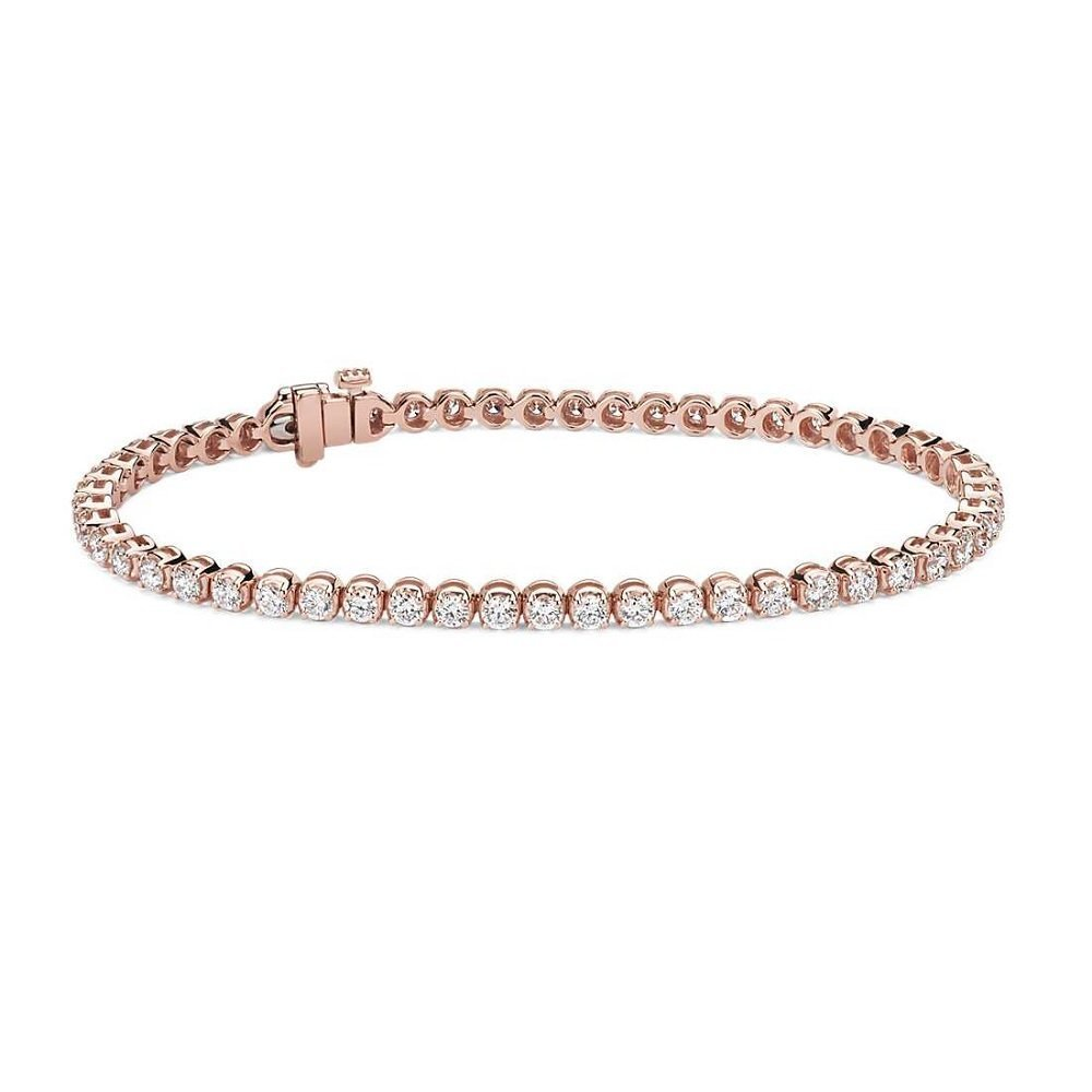 18kt pink gold diamond bracelet