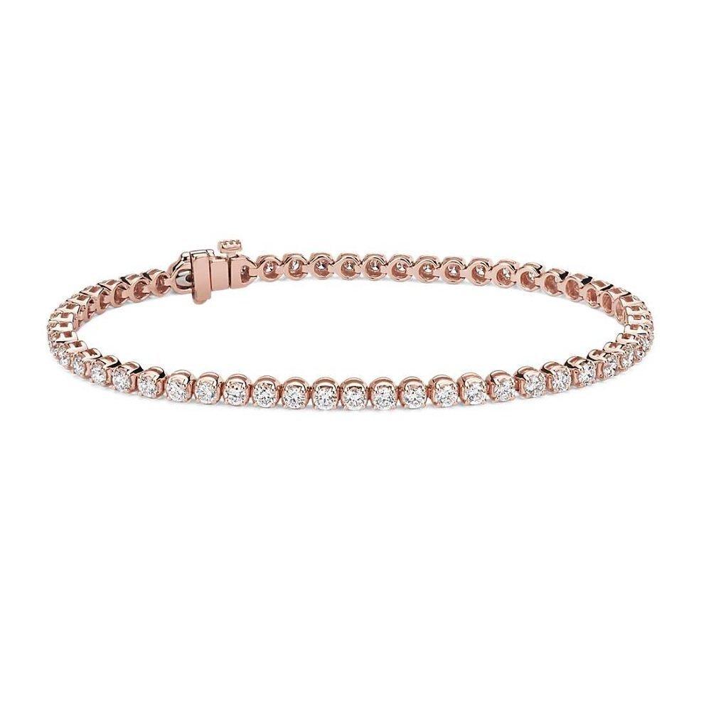 18kt rosegouden armband met diamant