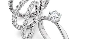 Engagement rings and wedding bands