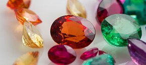 Special diamonds and rare gemstones