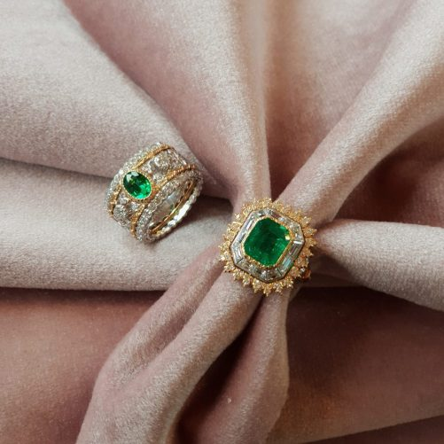 Buccellati Emerald Rings