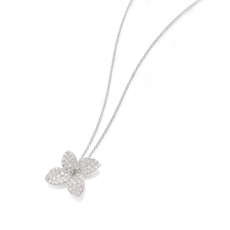 Pasquale Bruni 18kt white gold and diamonds necklace, Secret garden Collection
