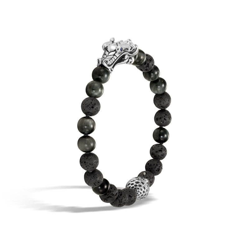 John Hardy Legends Naga bead bracelet in silver
