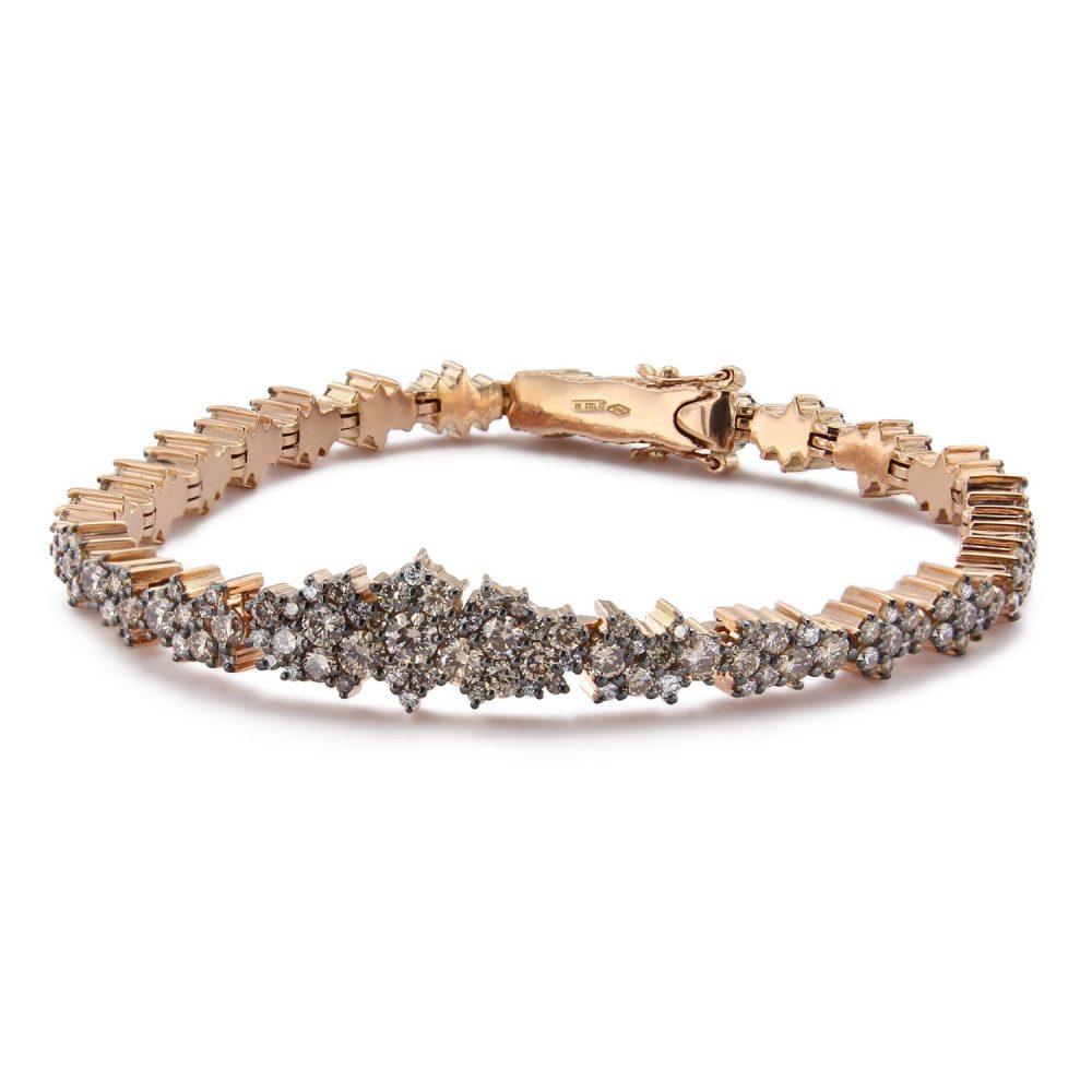 Bonebakker 18kt pink gold champagne diamond bracelet