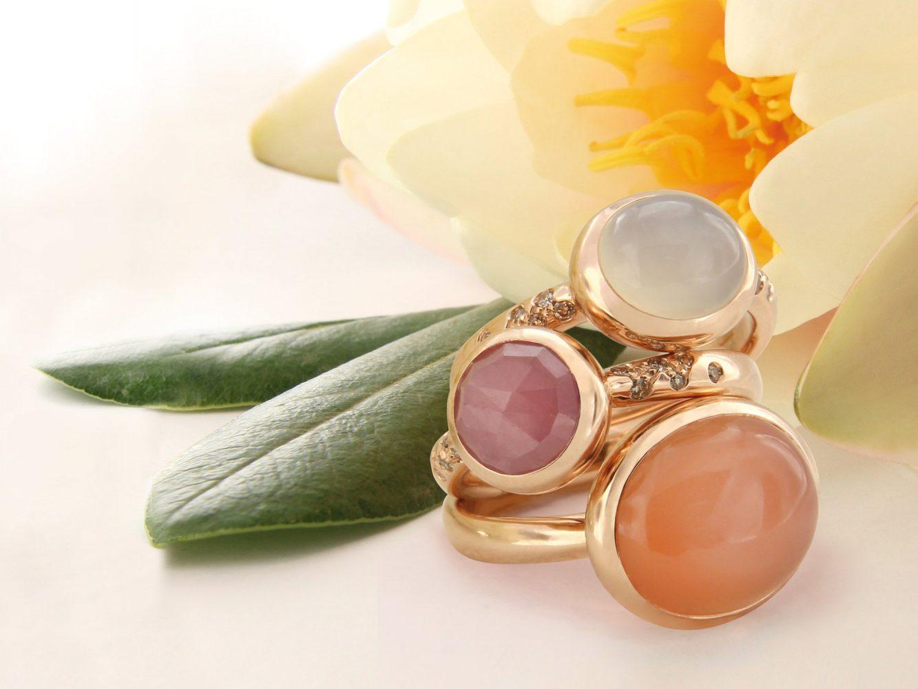 Bonebakker gemstone rings