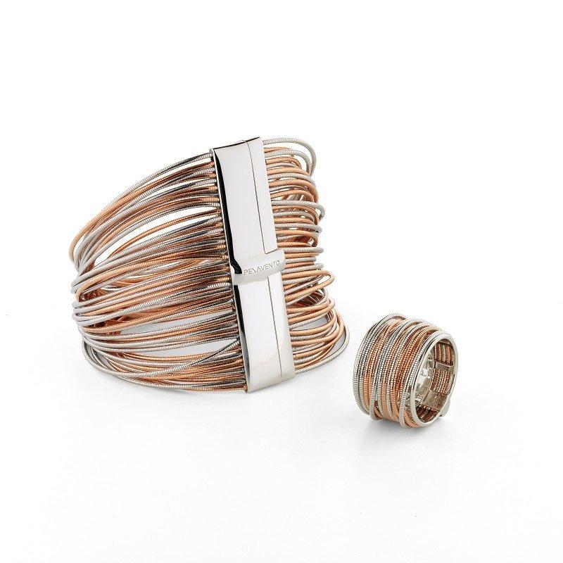 Pesavento DNA wire bracelet bi-colour