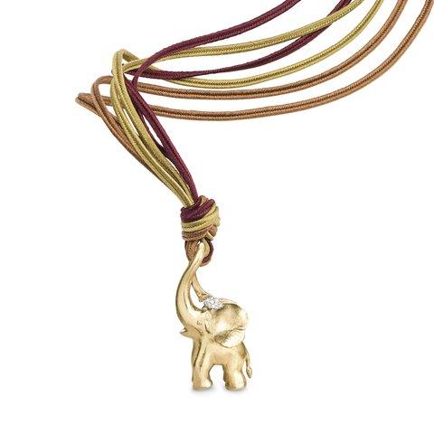 Ole Lynggaard Elephant pendant on cord