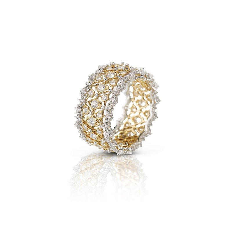 Buccellati ring Pizzo Venezia, 18kt geelgoud en diamant