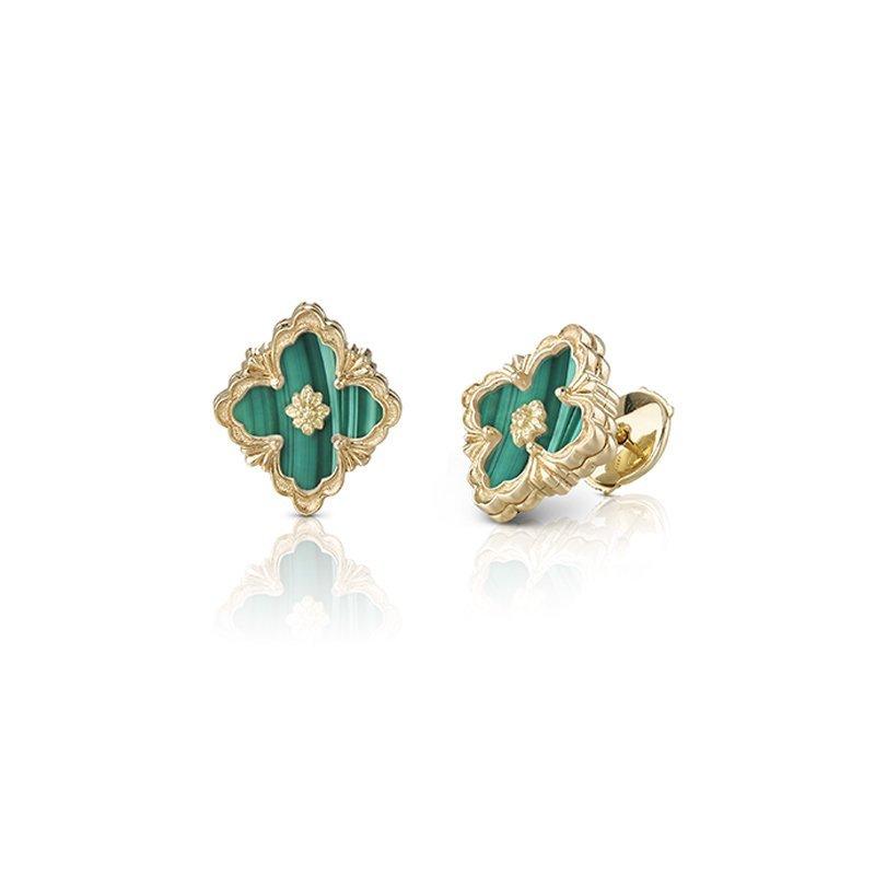 Buccellati Opera Earrings 18kt yellow gold and Malachite