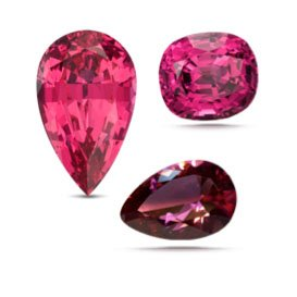 Spinel red hues