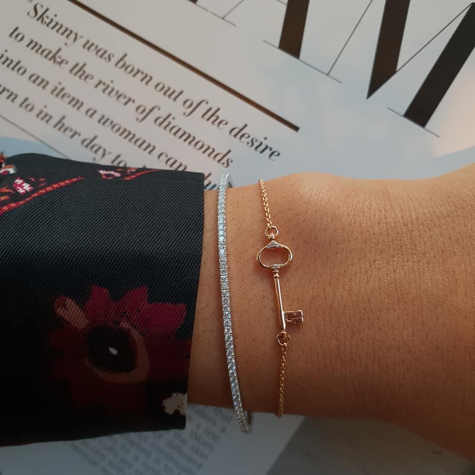 miniatuur sleutel Amsterdam armband