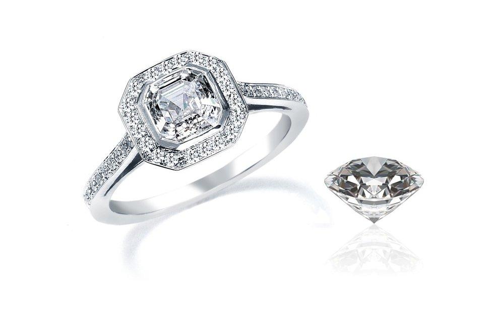 engagement ring asscher diamond amsterdam