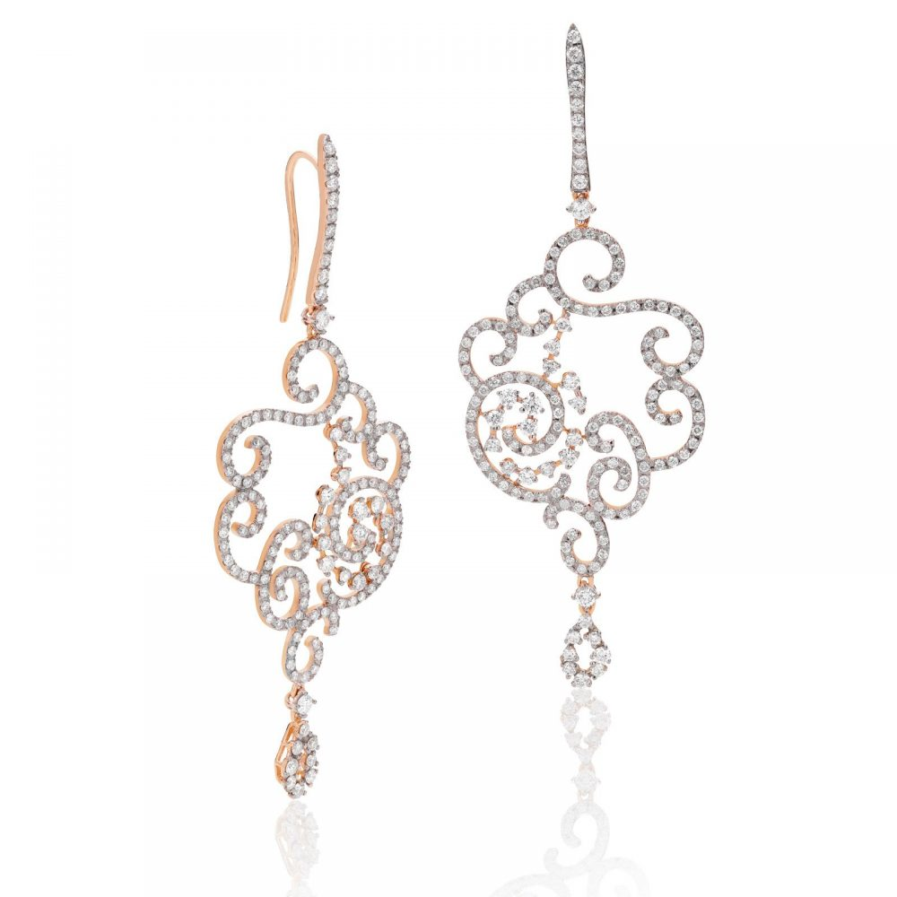 Casato 18kt rosegouden oorsieraden met diamant, Daphne Collectie