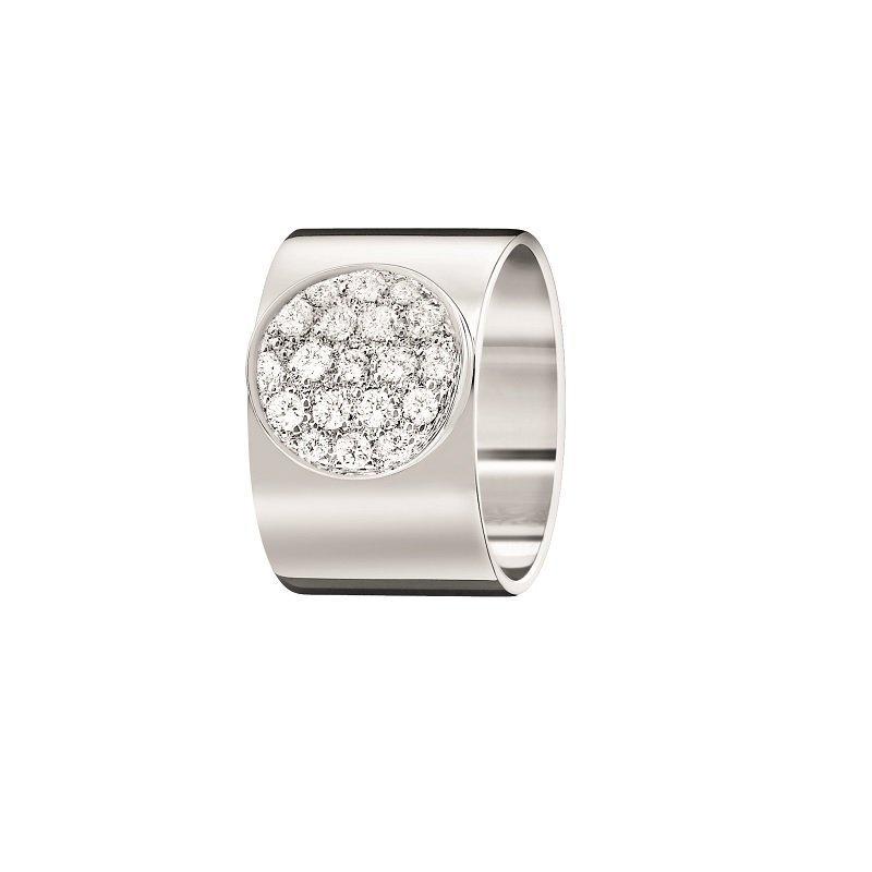 dinh van 18kt witgouden ring met diamant Anthea