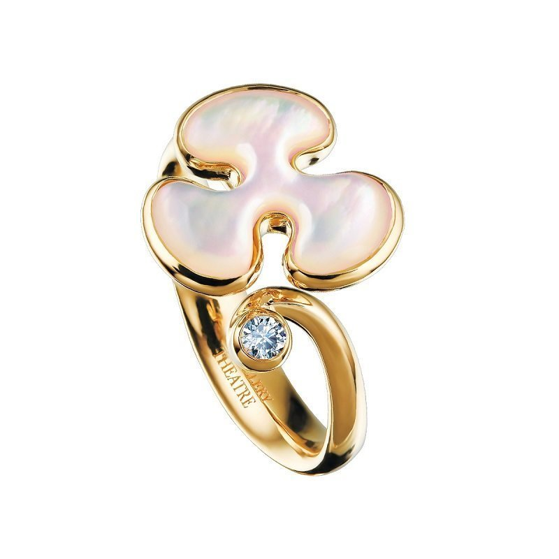 Jewellery Theatre Freeform Ring 18kt gold, mother of pearl and diamond