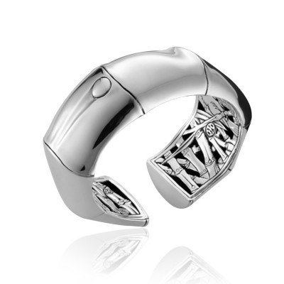 John Hardy Sterling Silver Bamboo Collection Kick Cuff Bracelet
