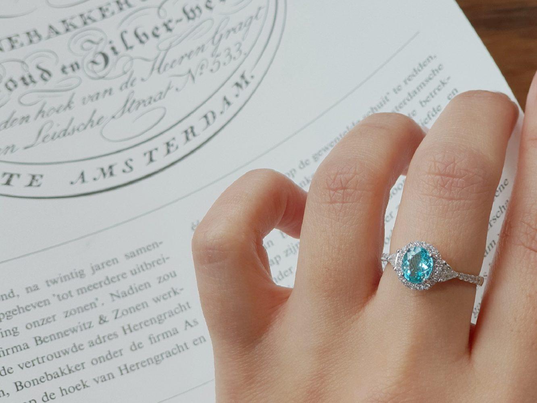 ring paraiba tourmalijn