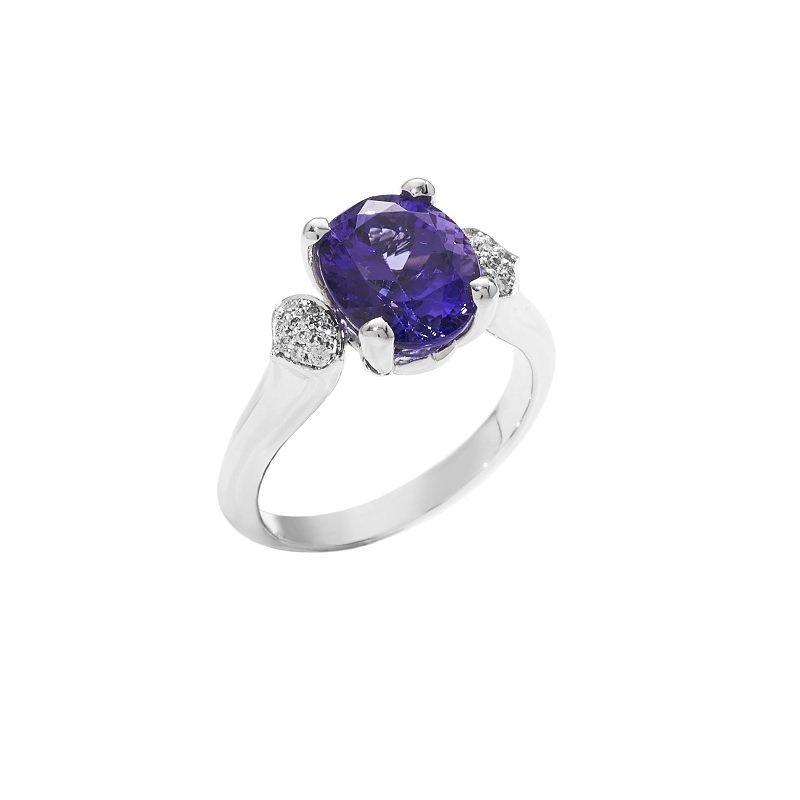 Bonebakker 18kt witgouden ring saffier diamant dag