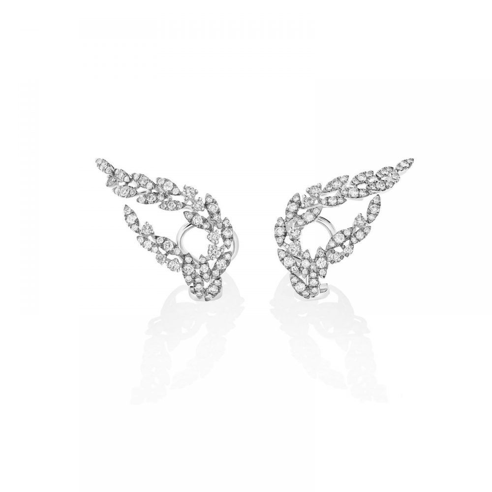Casato 18kt witgouden oorsieraden met diamant, Yasmeen Collectie